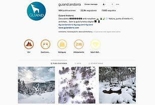 Campaña publicitaria aplicada en las redes sociales de la guía turística de Andorra, Guiand. Propiedad de la agencia de comunicación SC Comunicació, Andorra. Paquetes de campañas publicitarias a medida para Facebook y Instagram. Una forma de traspasar fronteras y llegar a consumidores internacionales sin la necesidad de que estén en Andorra.