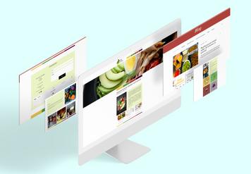 Pàgina web corporativa en format vertical + blog