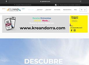 Creación de baners publicitarios para la página web de Guiand, propiedad de la agencia de comunicación SC Comunicació, Andorra. Tres tipos de banner interactivos con redirección directa a páginas web, redes sociales, teléfonos, emails de contacto...
