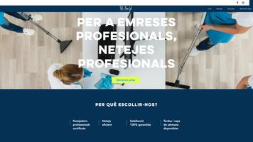 Pàgina web corporativa vertical amb pestanyes