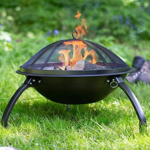 Portable Firepit with Cooking Grill