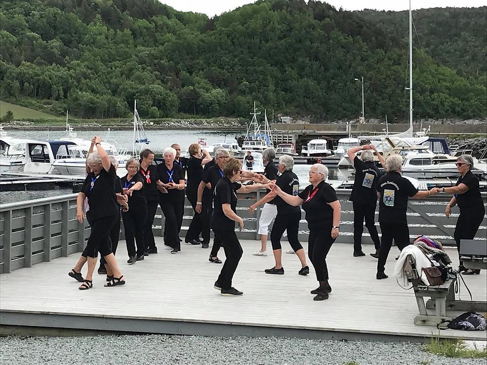 """Danseoppvisning, av """"Rissa Seniordans"""".. se video...."""