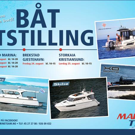 Båtutstilling 21-25 august