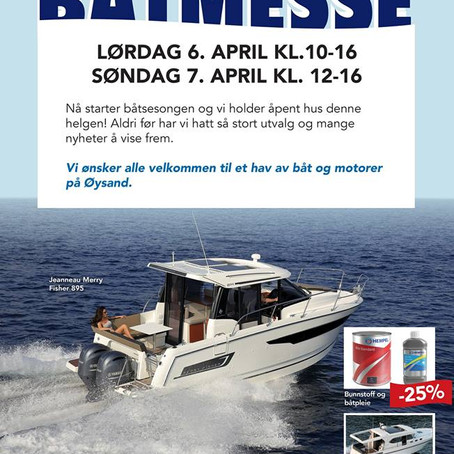 BÅTMESSE PÅ ØYSAND 6-7. APRIL