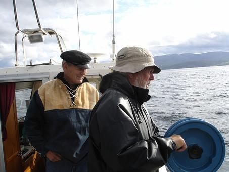 Toralv og Harald drar storsei i bakken