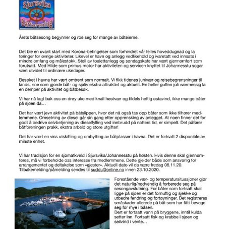 Høst-info, båtforeningen...(pr 8/10)