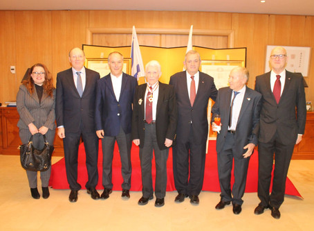 Congratulations to Prof. Ehud Harari on Receiving The Order of the Rising Sun