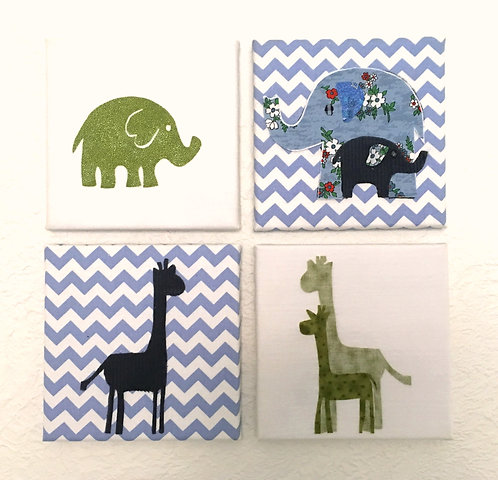 Safari Nursery Art - Wall Hangings