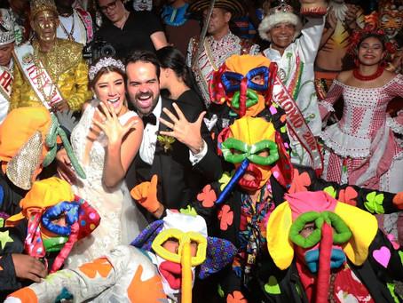 Galería  Con Carnaval, así fue la boda de Andrea Jaramillo