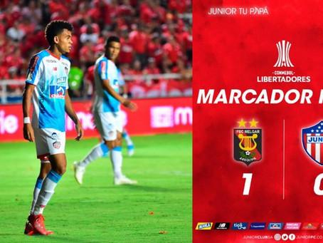Junior cayó y complicó sus chances en la Libertadores