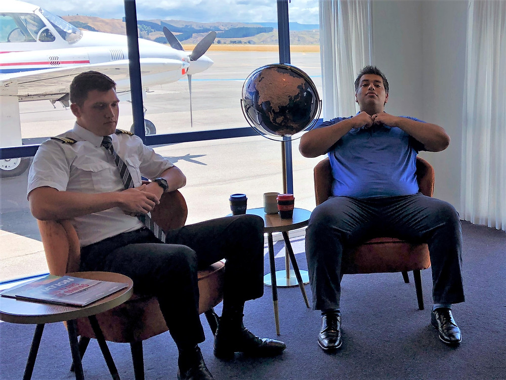 Air Napier CEO Shah Aslam Pilot Alec Private Charter Plane New Zealand
