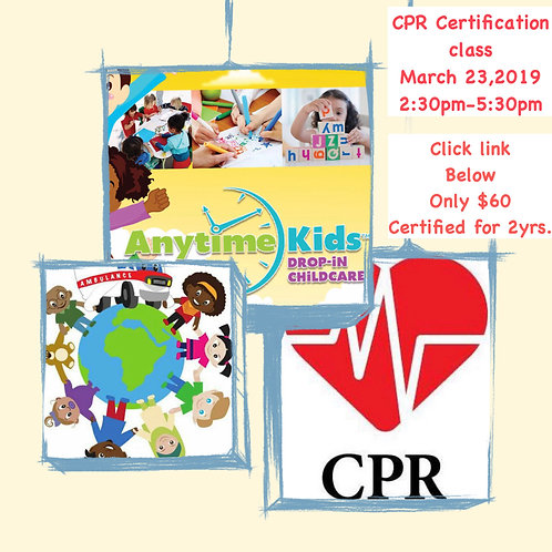 CPR / First Aid Certification Training: 3/24/2019