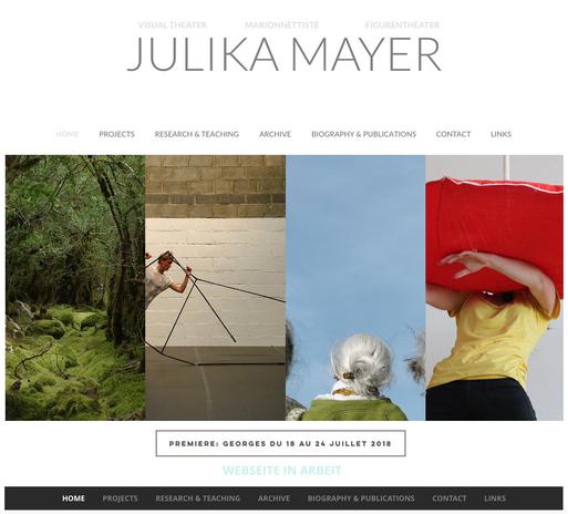 Homepage Design Julika Mayer