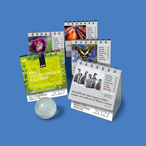 Mini-Wochenspruch-Kalender 2021