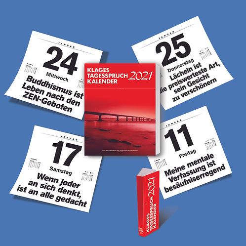 Tagesspruch-Kalender 2021