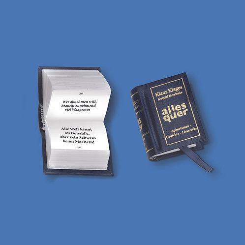"""Miniaturbuch """"Alles quer"""""""