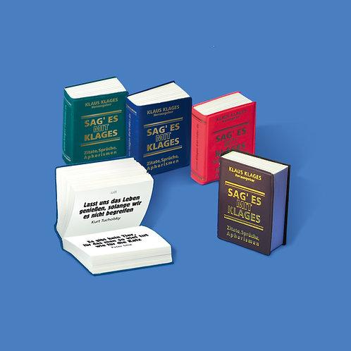 """Miniaturbuch """"Sag es mit Klages"""""""