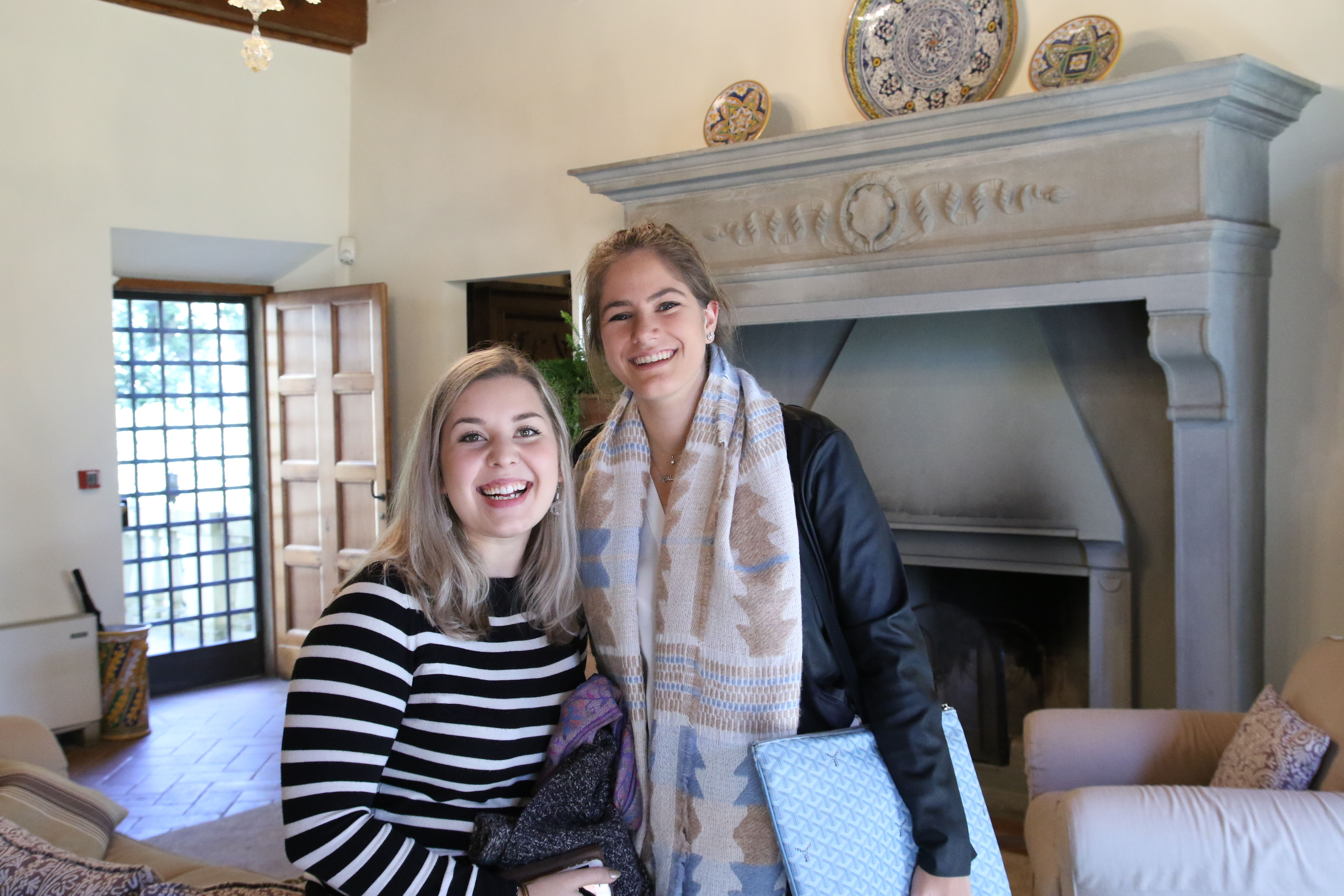 NYU Florence Students Matilda Mahne and Ori De Angelis