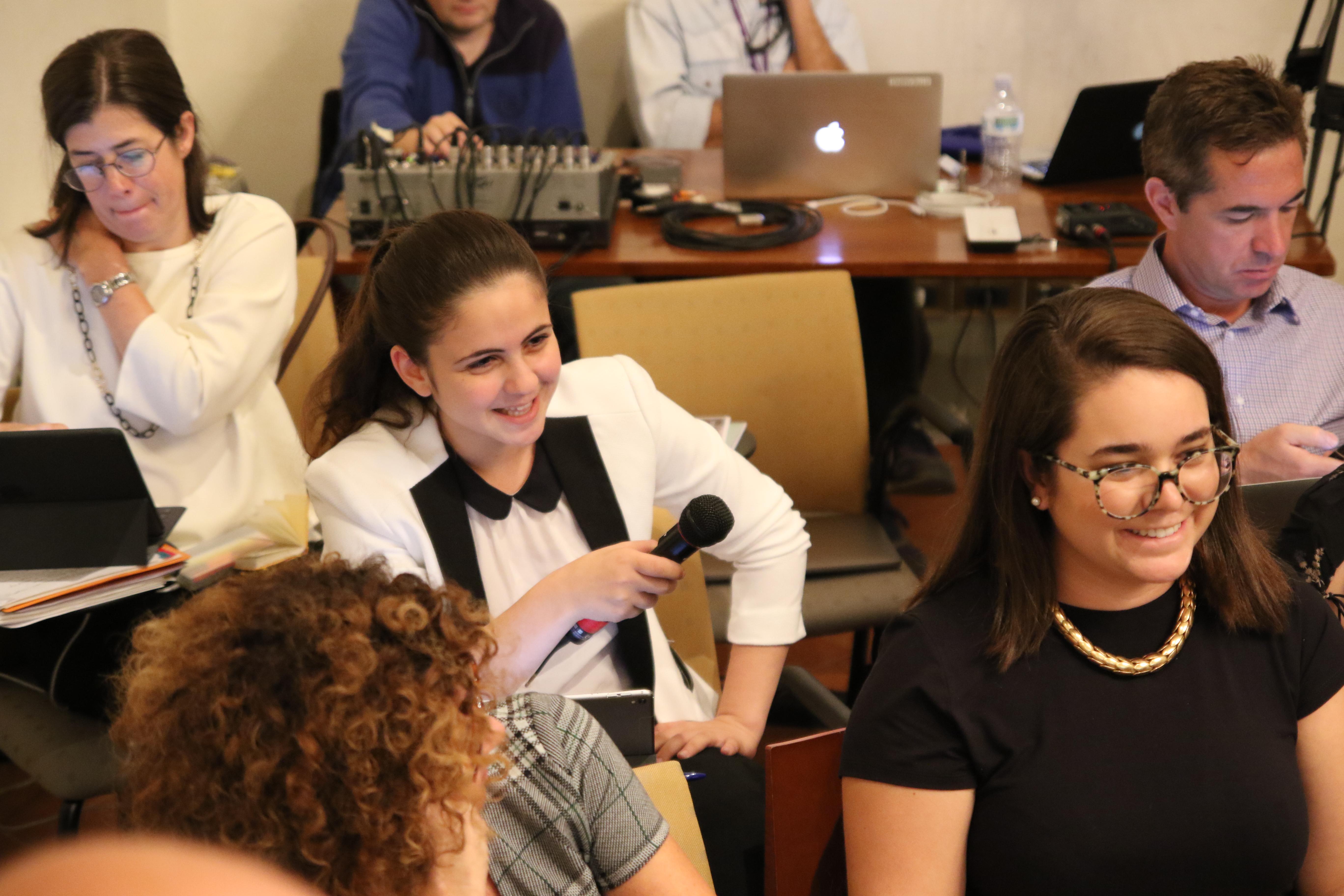 NYU Florence Student Ward Hejazi at Q&A