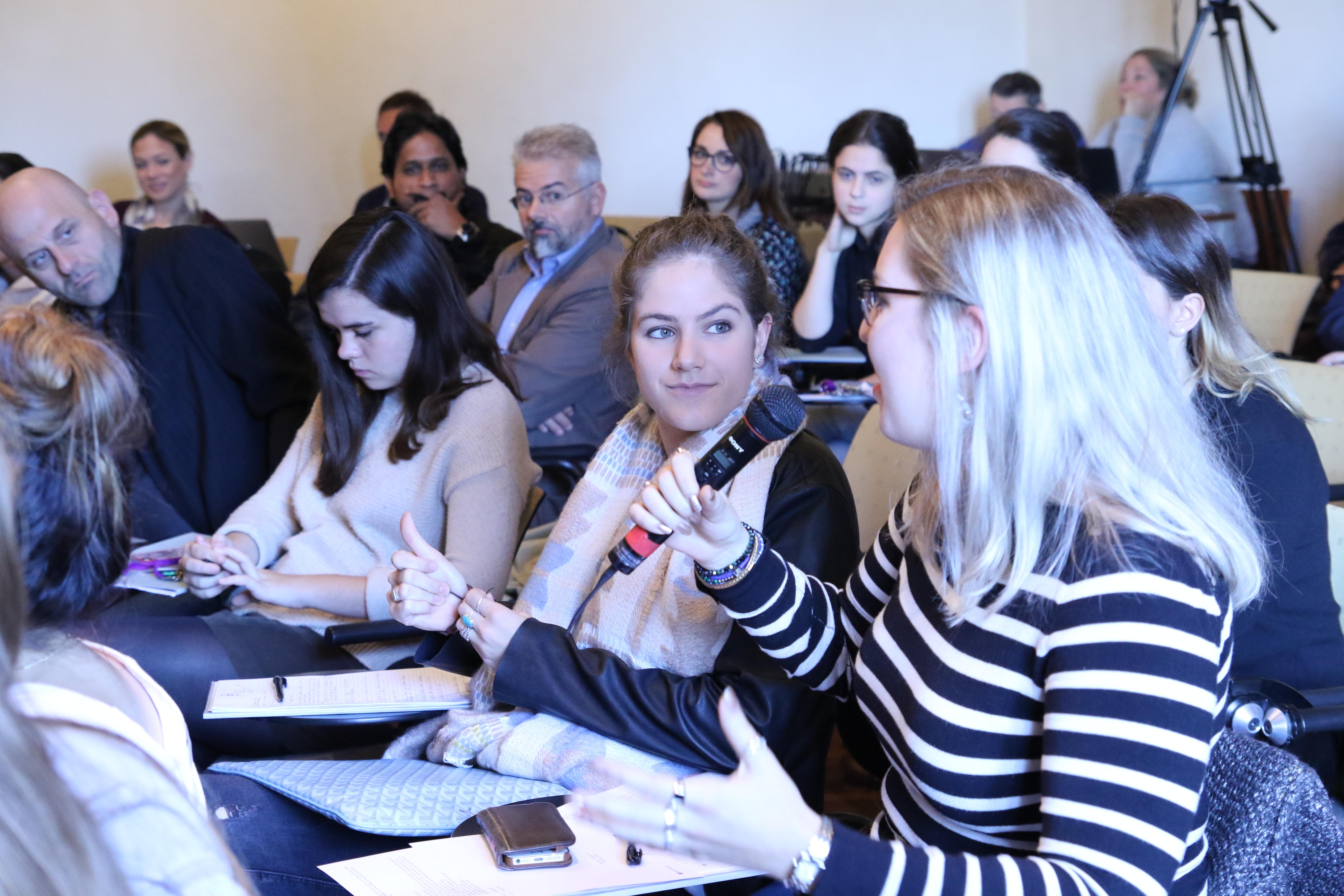 NYU Florence Student Matilda Mahne at Final Q&A