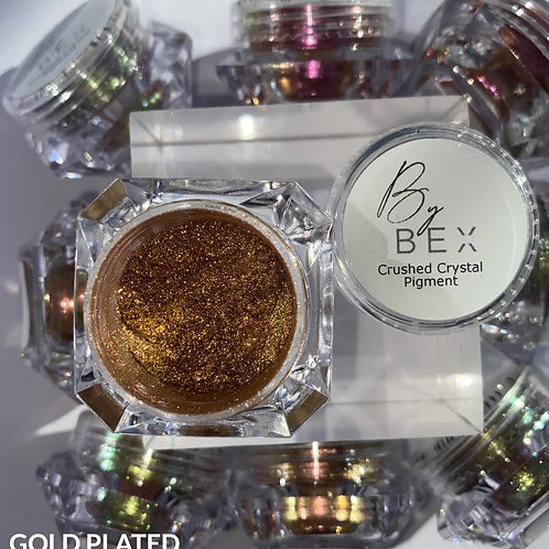 Crushed Crystal Pigment Gold Plated