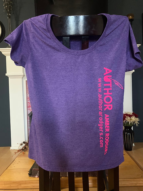 Purple Front Branded Short Sleeve T-Shirt