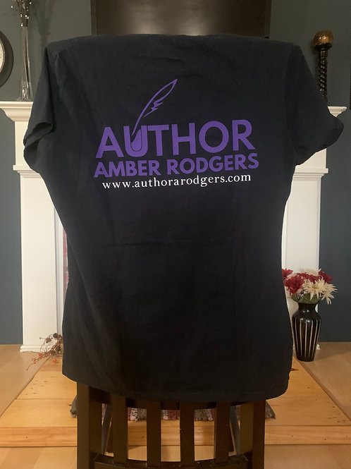 Black Back Branded Short Sleeve T-Shirt