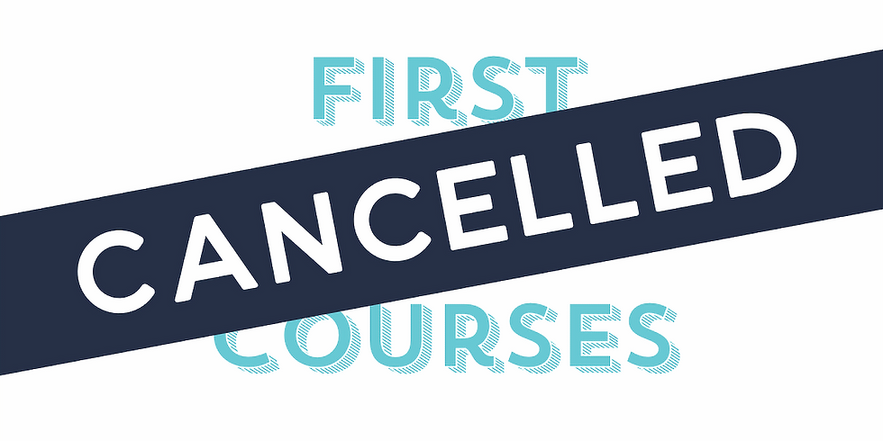 CANCLLED DUE TO COVID-19, 26th of March - Full First Aid Course (includes CPR)
