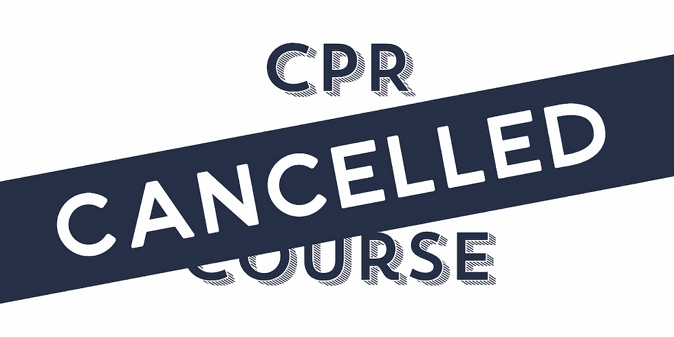 CANCLLED DUE TO COVID-19, 20th of March - Morning CPR Only Course