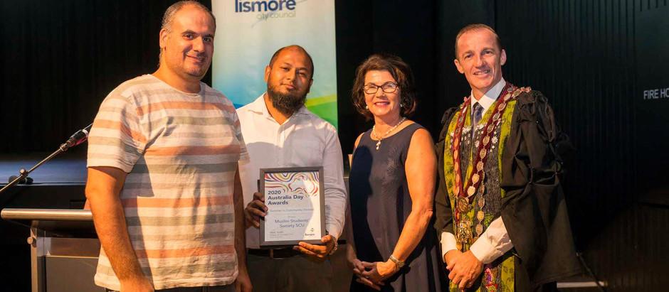 LEXSA Muslim Students' Society wins Aussie day award!
