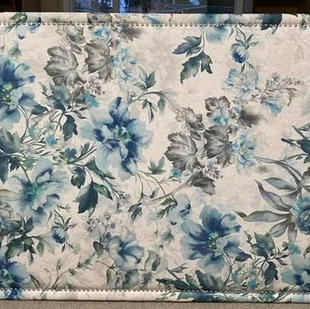 Blue Floral Headboard