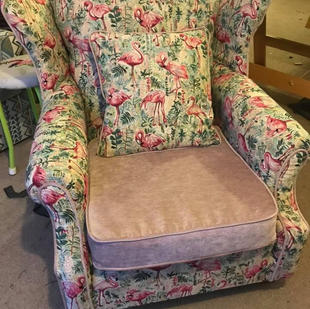 Pink Flamingo Armchair