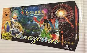 Torta Amazonia 151 tubos - Golden