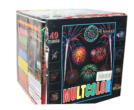 Torta Multicolor 49 tubos - Golden