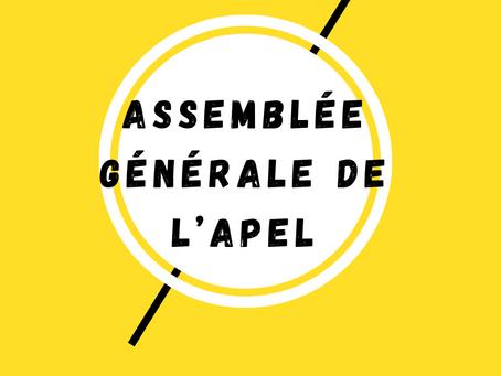 Assemblée générale de l'Association de Parents d'élèves (APEL)