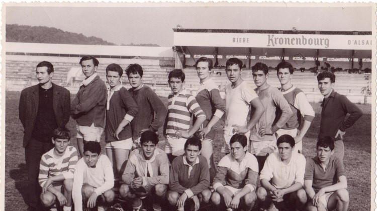 1965 - math de Rugby contre la Prof au C