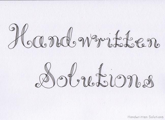 Handwritten Name