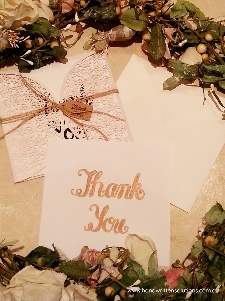 Handwritten Thank You Card - Cherish Collection