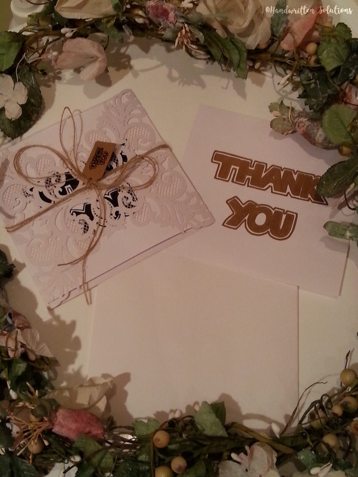 Handwritten Thank You Card