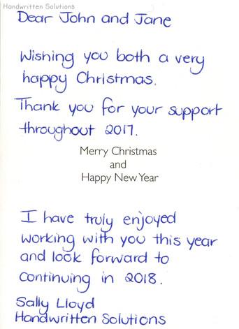 Handwritten Christmas Card