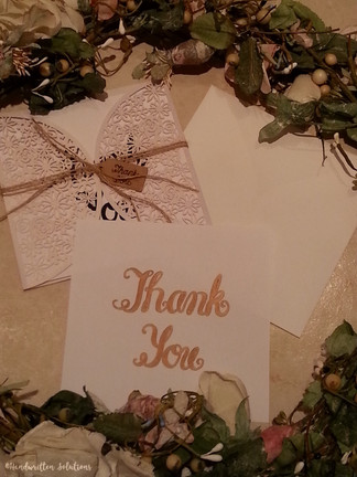 HANDWRITTEN THANK YOU CARD - TYCSWCC