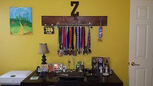 Running Medal Display Rack