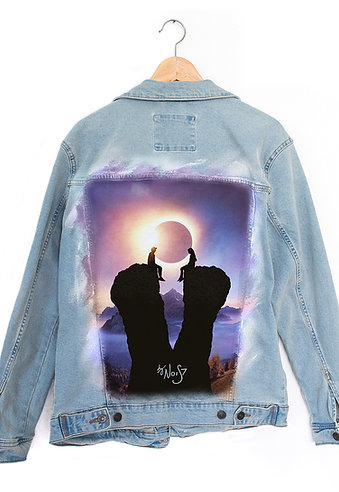 Jeans Jacket Solar Eclipse