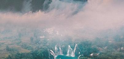 POSTER Vietnam Waterfall Mountain
