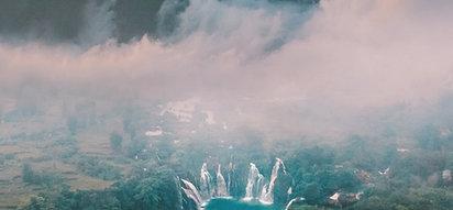 CANVAS Vietnam Waterfall Mountain