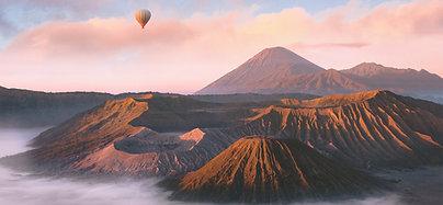 POSTER Mount Bromo Balloon