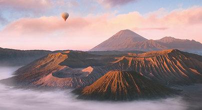PREMIUM ALUMINUM DIBOND Mount Bromo Balloon