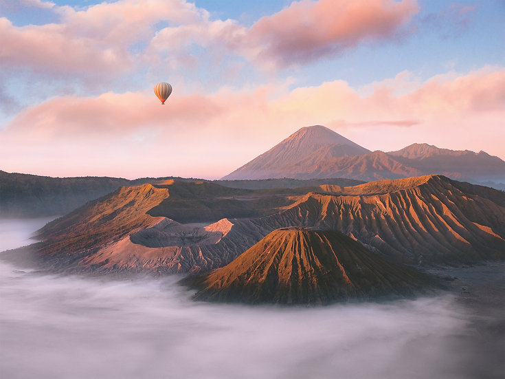 POSTER Mount Bromo Balloon
