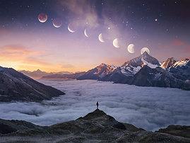 PREMIUM ALUMINUM DIBOND Moon Mountain Man