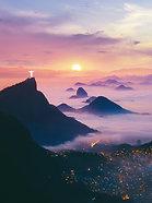 ACRYLIC GLASS ON ALUMINUM BASE Sunrise in Brazil